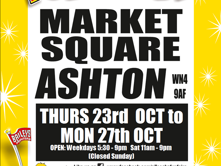 Ashton Market Place Funfair poster