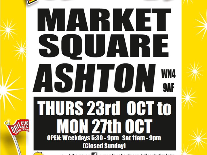 Ashton Market Place Funfair poster