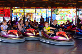 Picture of the public enjoying a ride on Silcock's Amusements traditional dodgem cars