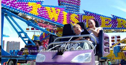 image of people enjoying a ride on Silcock's twist