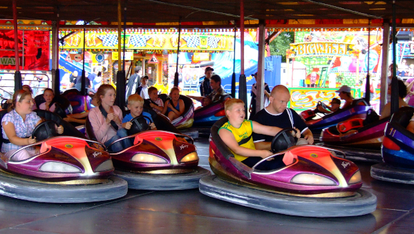 People enjoying the Dodgem Cars